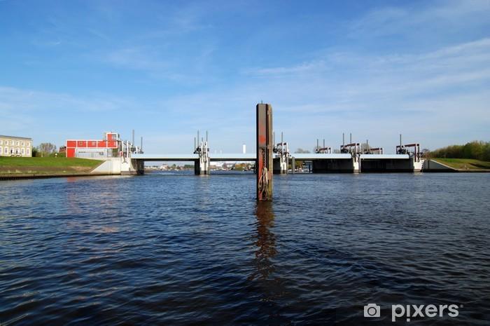 Naklejka Pixerstick Bille Bay Barrage Bill Werder Hamburg Tiefstack - Infrastruktura