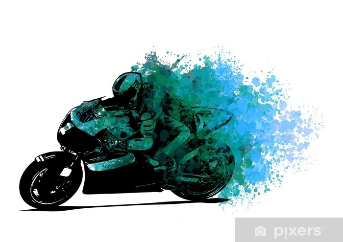 Naklejka Pixerstick Motociclista - Transport