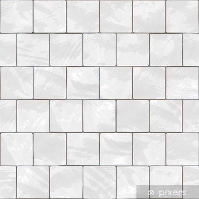 Seamless White Tiles Texture Wall Mural