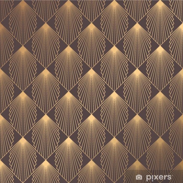 Klesskapklistremerke Art deco mønster - Grafiske Ressurser