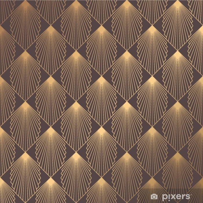 Art Deco Pattern Vinyl Wall Mural - Graphic Resources