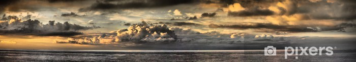 Naklejka Pixerstick Zachód - Panoramic - Niebo