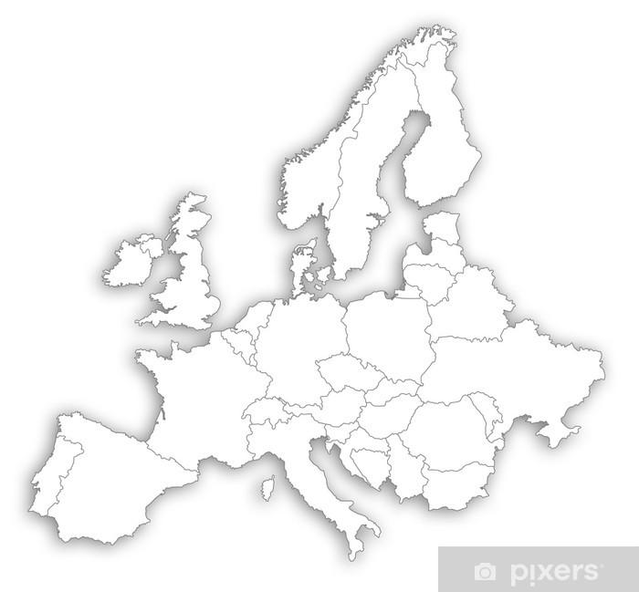 Karte Von Europa.Fototapete Europa Karte