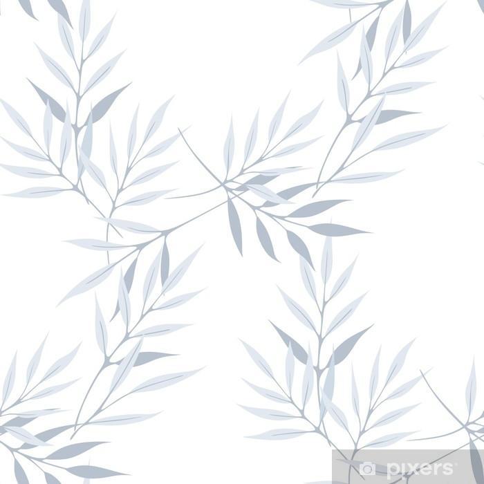 Sticker Pixerstick Longues feuilles vecteur transparente motif blanc texture moderne fond - Passe-temps et loisirs
