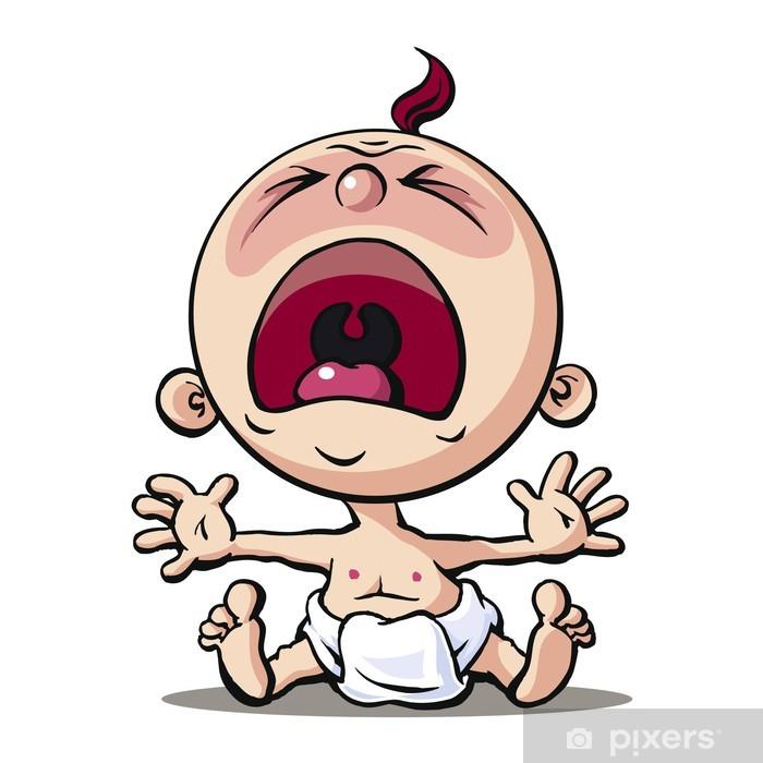 Baby Pixerstick Sticker - Sadness