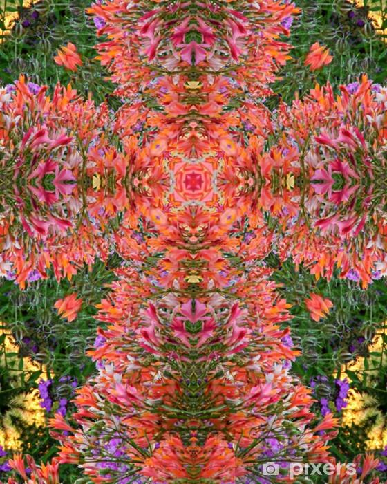 Papier peint vinyle Croix de fleurs de jardin - Fleurs