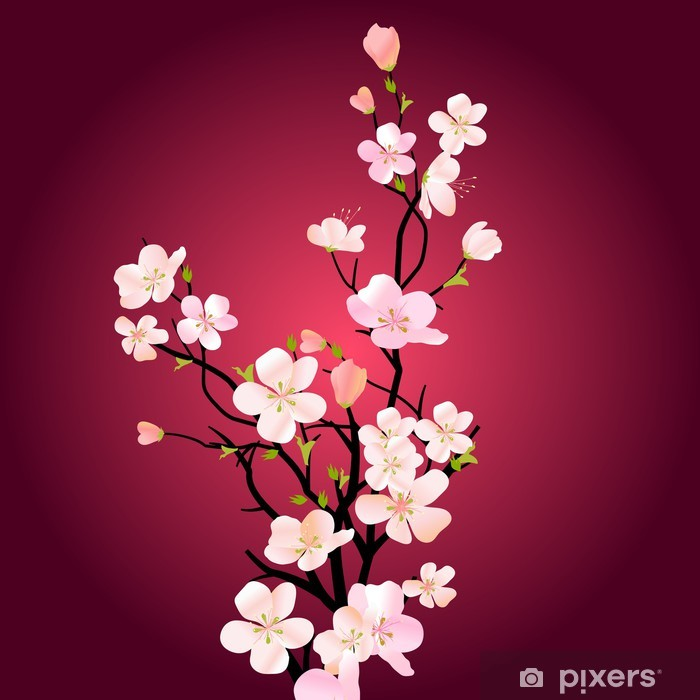Blossoming tree Pixerstick Sticker - Apple trees