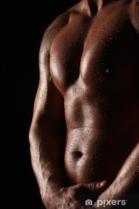 Vinilo Pixerstick Desnudo masculino con el agua - Temas