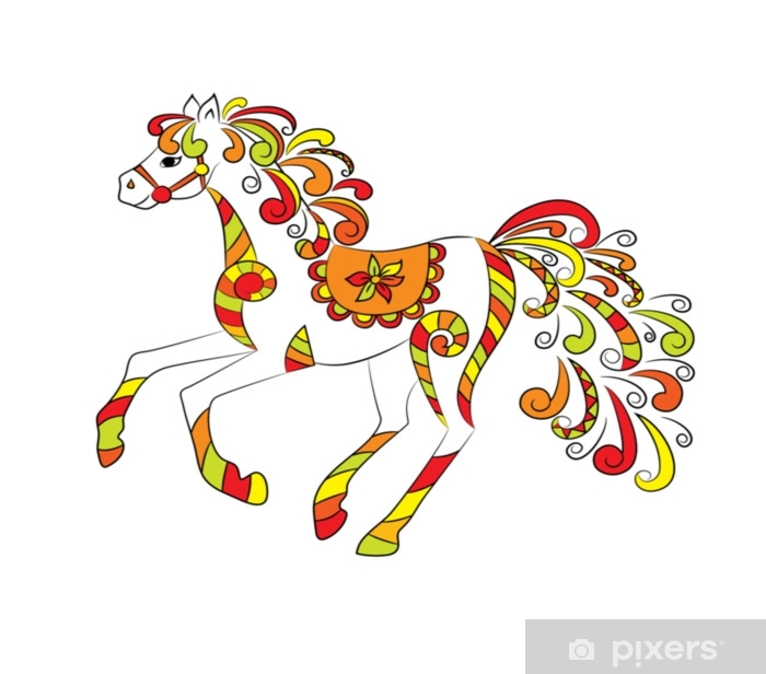 Fototapet av Vinyl Fe folklore häst - Djur
