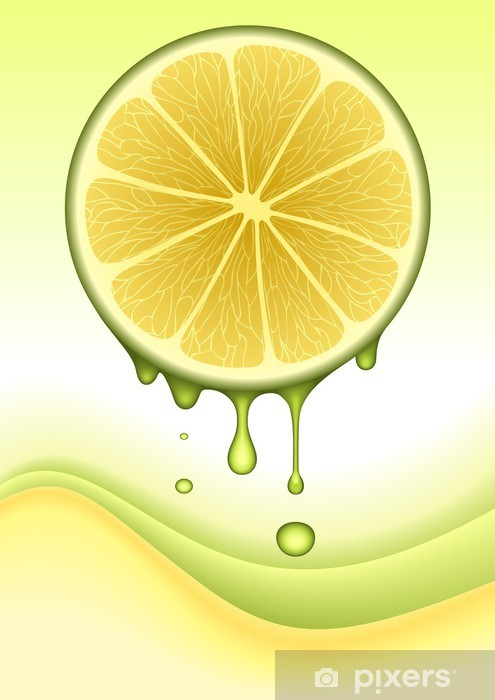 Papier peint vinyle Concept Citron Orange. IMAGE VECTEUR - Jus