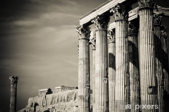 Fototapeta winylowa Świątynia Zeusa Olimpijskiego i Akropol, Ateny - Tematy
