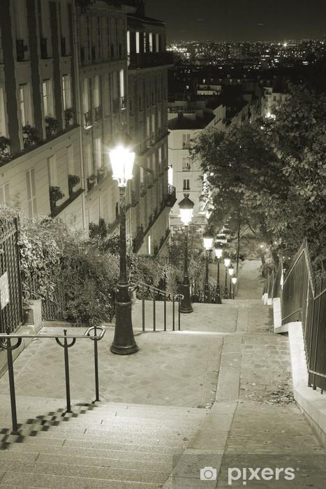 Vinyl Fotobehang Escalier Montmartre - Parijs