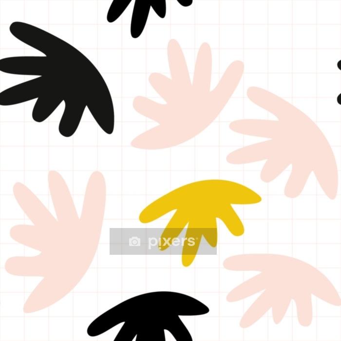 Bettbezug Vektor nahtlose Muster mit abstrakten organischen Formen in Pastellfarben und einfachen geometrischen Hintergrund. - Grafische Elemente