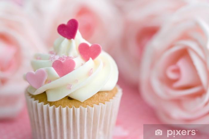 Sticker Pixerstick Valentine cupcake - Bonbons et muffins