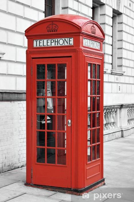 Papier Peint Autocollant Cabine téléphonique rouge à Londres - Thèmes