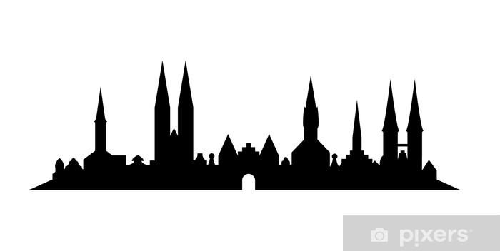 Aufkleber Skyline Lübeck Pixerstick