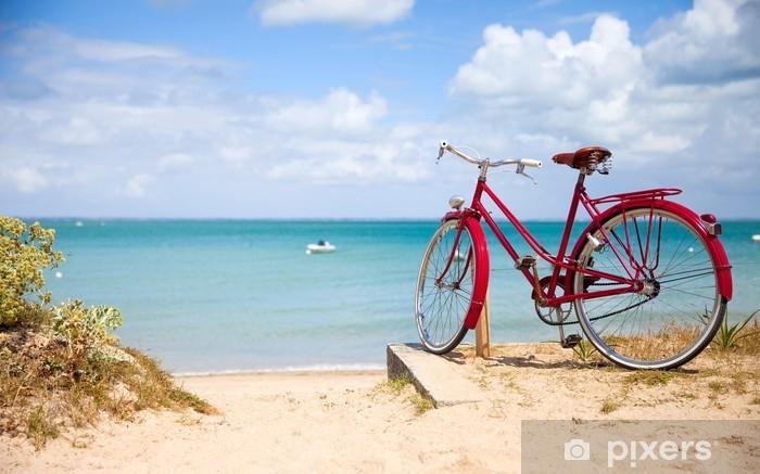 Vinilo Pixerstick Paysage de bretagne, vélo en bord de mer. - Paisajes
