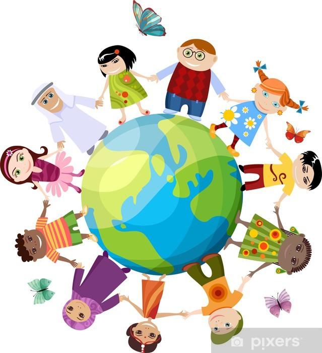 Papier peint vinyle Enfants du monde - Ethique