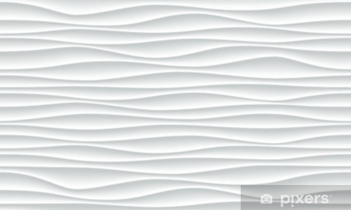 Papier peint vinyle Fond blanc vague avec texture de mur de vague horizontale sans soudure. décoration intérieure de vecteur papier peint à la mode d'ondulation. conception de la géométrie 3d transparente - Ressources graphiques