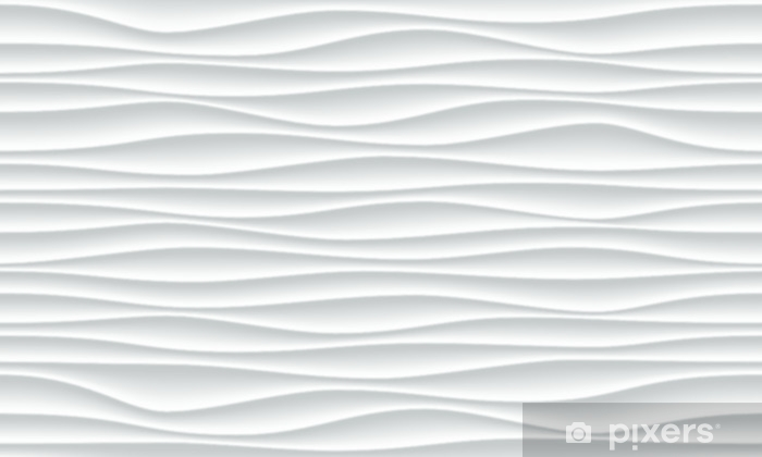White wave pattern background with seamless horizontal wave wall texture   Vector trendy ripple wallpaper interior decoration  Seamless 3d geometry