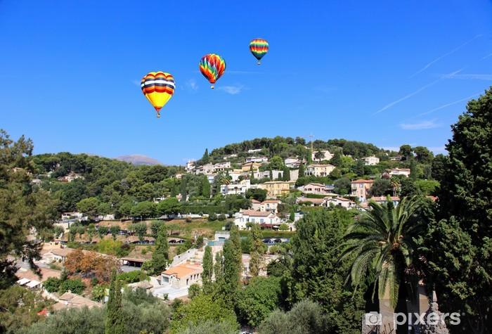Vinyl-Fototapete Luftbild aus dem Dorf Saint-Paul Frankreich - Europa