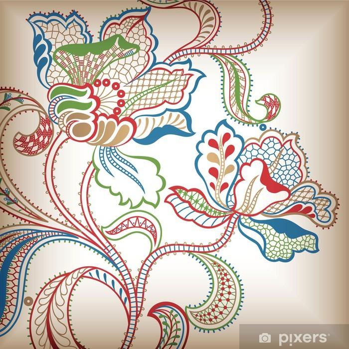 Papier peint vinyle Abstract floral - Fleurs
