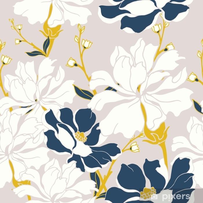 Fototapeta winylowa Abstrakcyjny wzór elegancji z kwiatów tle. - Rośliny i kwiaty
