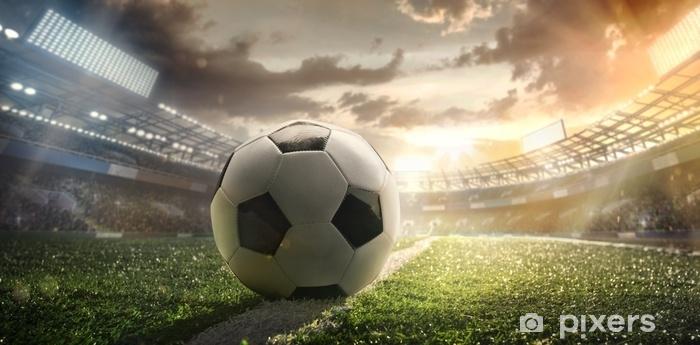 Fototapeta Winylowa Sport Piłka Nożna Na Stadionie Plakat Piłkarski