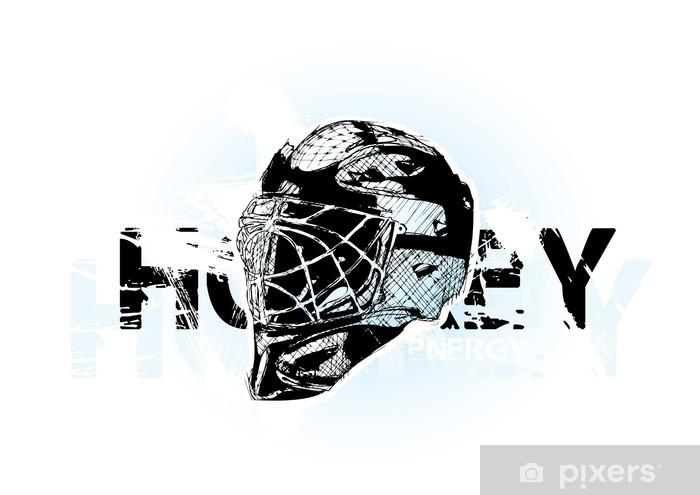 Aufkleber Eishockey Helm Pixerstick