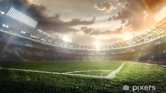 Fototapeta winylowa Sportowe tła. stadion piłkarski. - Sport