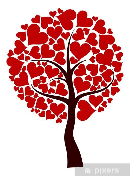 Vinylová fototapeta Valentines strom pozadí, vektor - Vinylová fototapeta