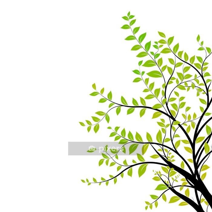 Decalque De Parede Tree Branch Vector Green And Natural Floral Design Element Pixers Vivemos Para Mudar