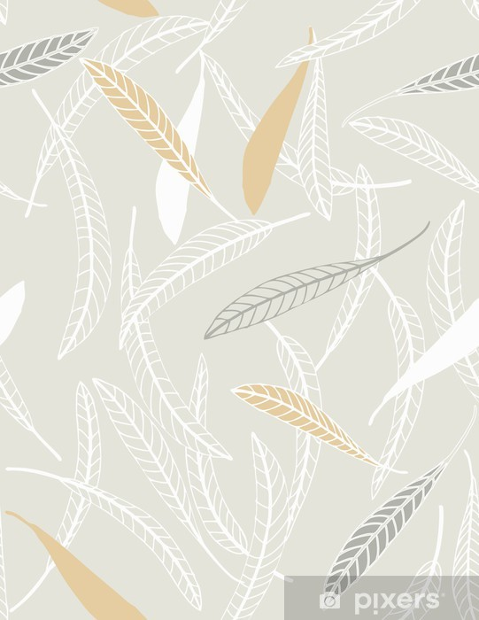 Feathered Leaves II Vinyl Wall Mural - Themes
