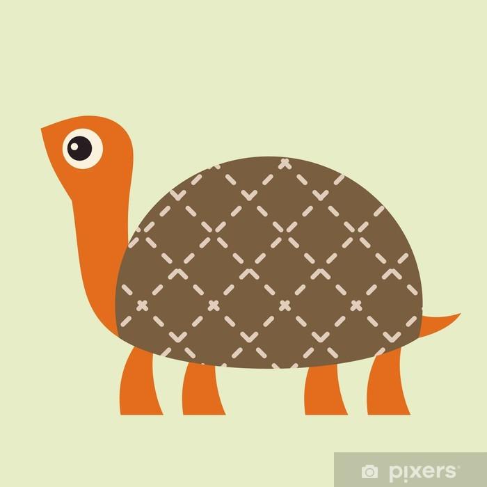 Naklejka Pixerstick Ilustracja wektorowa Turtle - Sztuka i twórczość