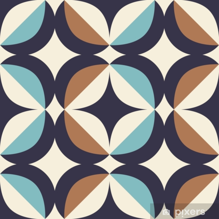 seamless retro pattern in scandinavian style with geometric elements Pixerstick Sticker - Graphic Resources