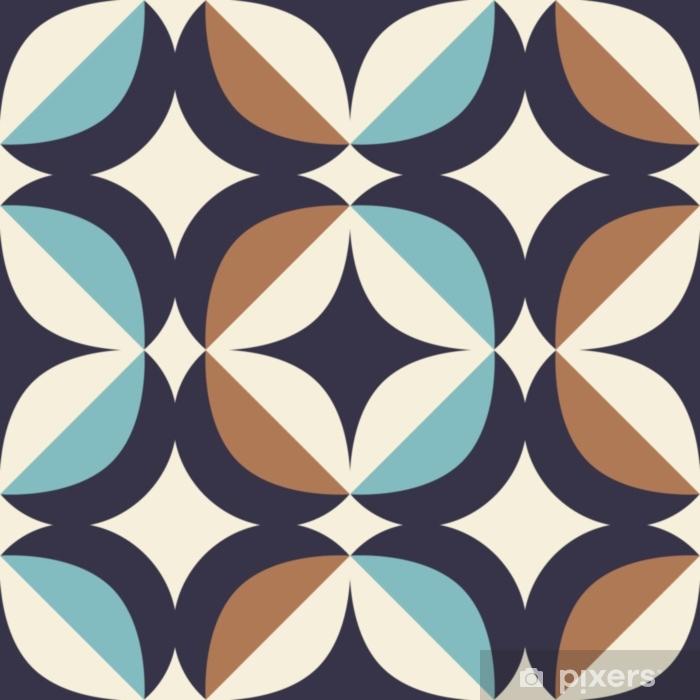 Saumaton retrokuvio skandinaaviseen tyyliin geometristen elementtien kanssa Pixerstick tarra - Graafiset Resurssit