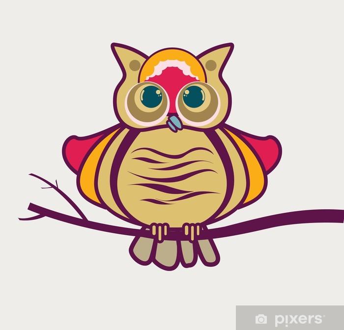 Plakát Sova - Imaginární zvířata