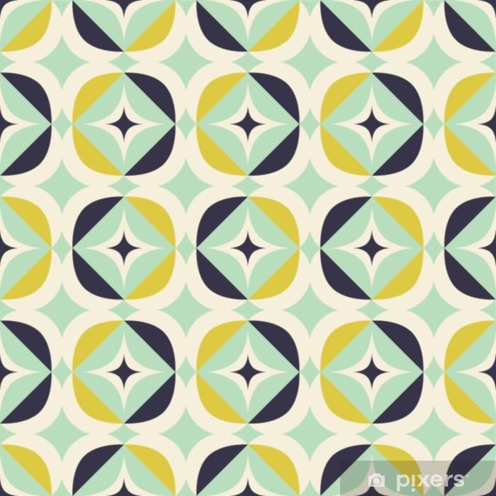 Fototapeta samoprzylepna Bez szwu retro wzór w skandynawskim stylu z elementami geometrycznymi - Zasoby graficzne