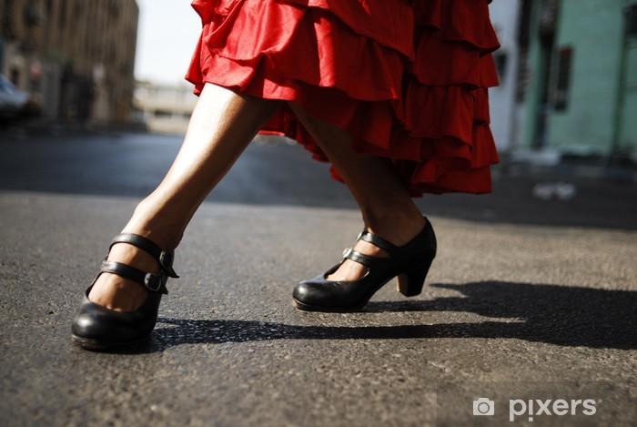 Sticker Pixerstick Flamenco danseuse - Thèmes