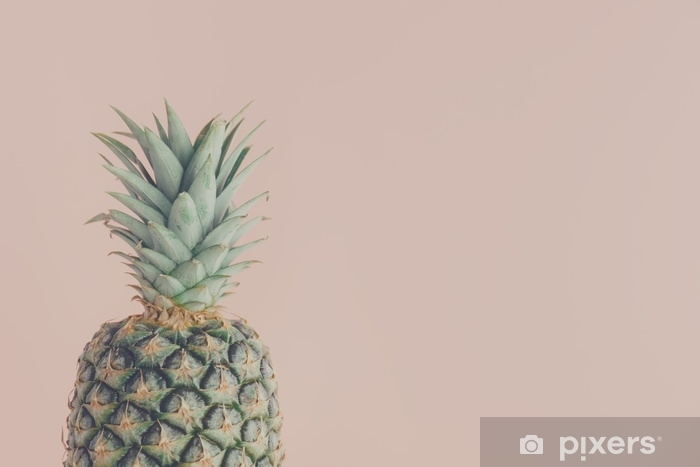 Pixerstick Aufkleber Kunstansicht von frischer Ananas - Essen