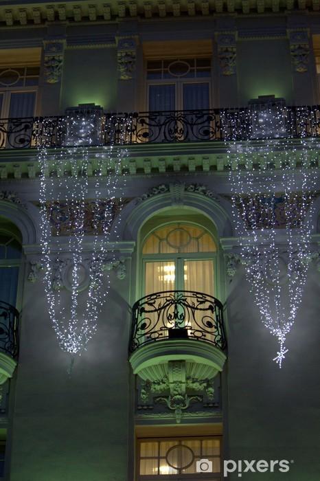 Decorazioni Natalizie Balconi.Balconi Di Un Palazzo Illuminati Da Decorazioni Natalizie Wall Mural Pixers We Live To Change