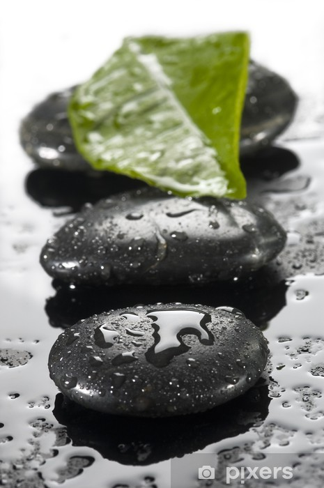Vinilo Pixerstick Spa de piedras con gotas de agua - Temas