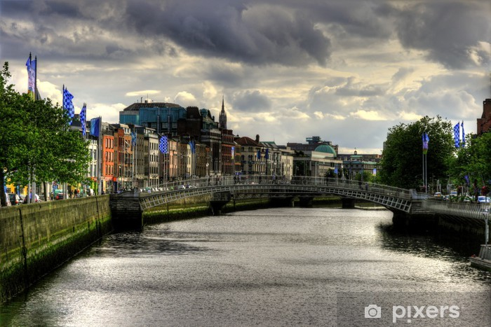River Liffey in Dublin city, Ireland Vinyl Wall Mural - Themes