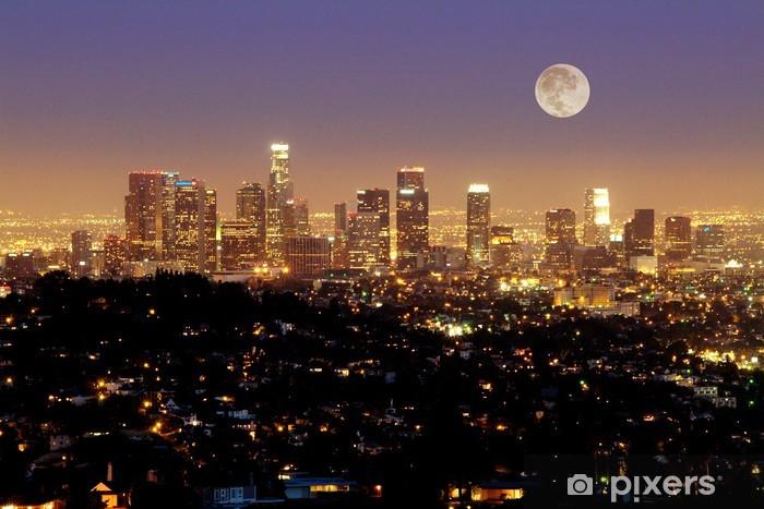 Sticker Pixerstick Horizon de Los Angeles au crépuscule - Los Angeles