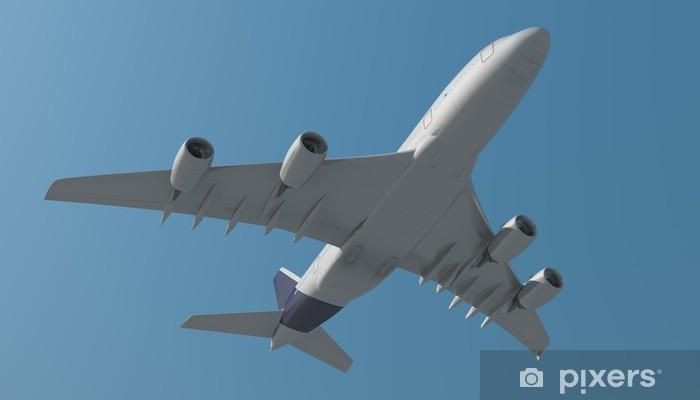 Sticker Pixerstick Avion de passagers par le bas - Vacances