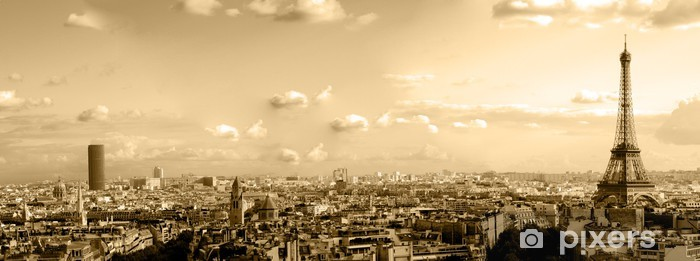 Fototapeta winylowa Dachy Paryża - iStaging