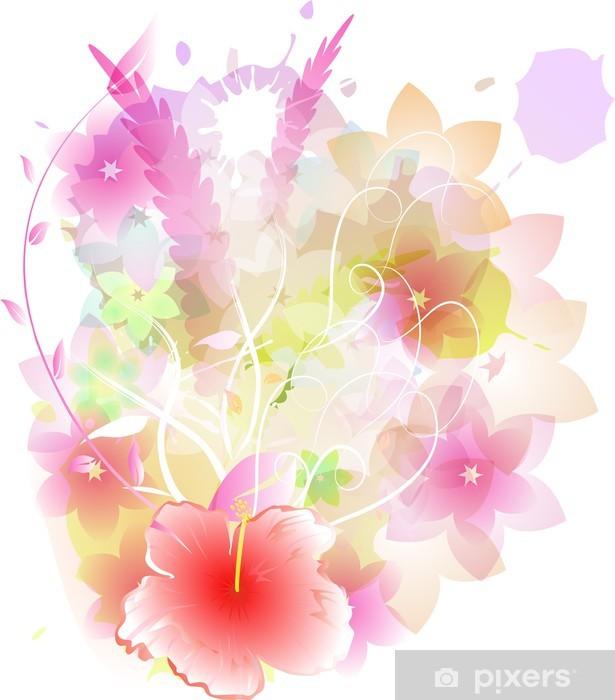 Nálepka Pixerstick Kytice pastel 2 - Roční období