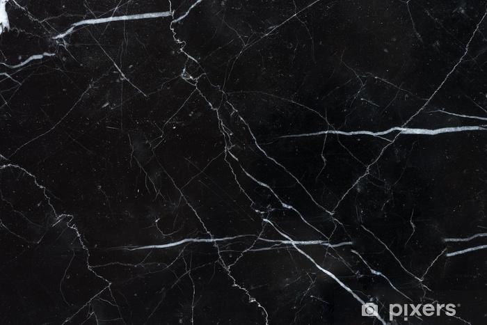 Fotomural Lavable Fondo de textura de mármol marquina negro - Recursos gráficos