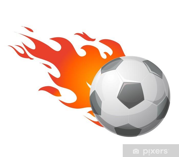 Alevler Vektor Ile Futbol Topu Poster Pixers Haydi Dunyanizi Degistirelim