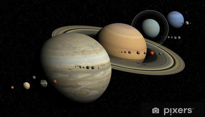 Papier peint vinyle Système solaire - Planètes